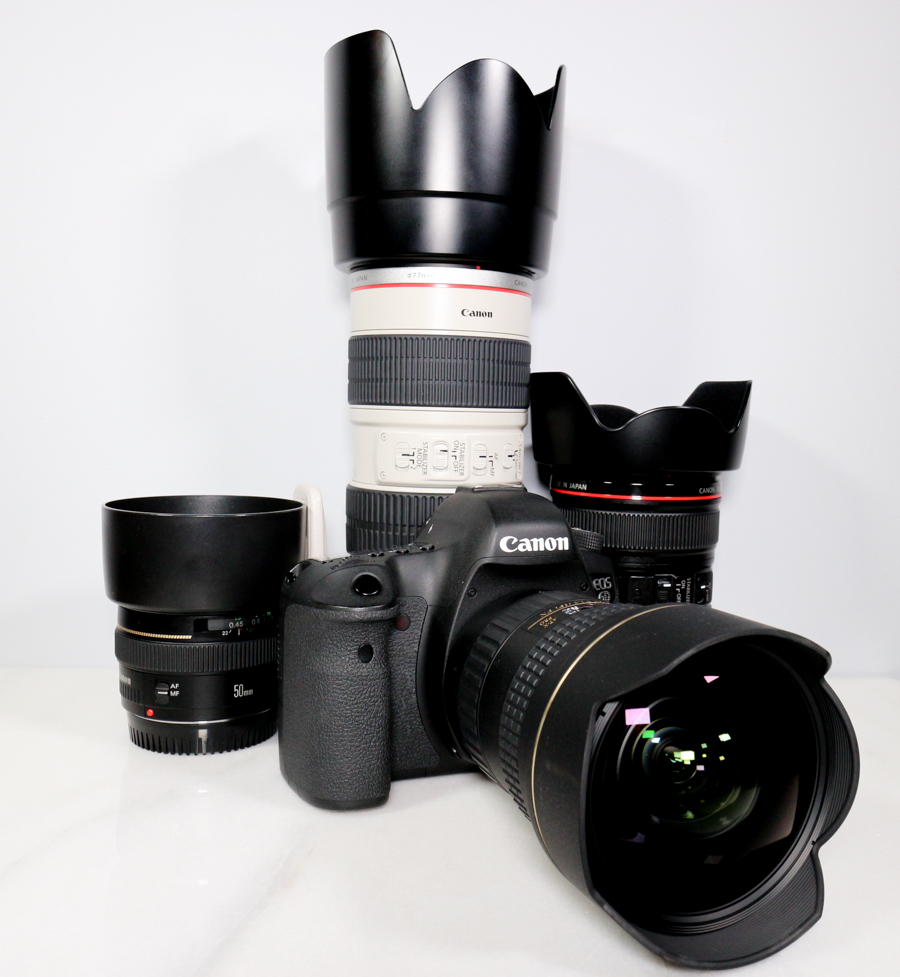 (pictured Canon 6D with Tokina 16-28mm F2.8 | Canon 50mm F1.4 | Canon 70-200mm F2.8 IS L | Canon 24-105mm F4 IS L)