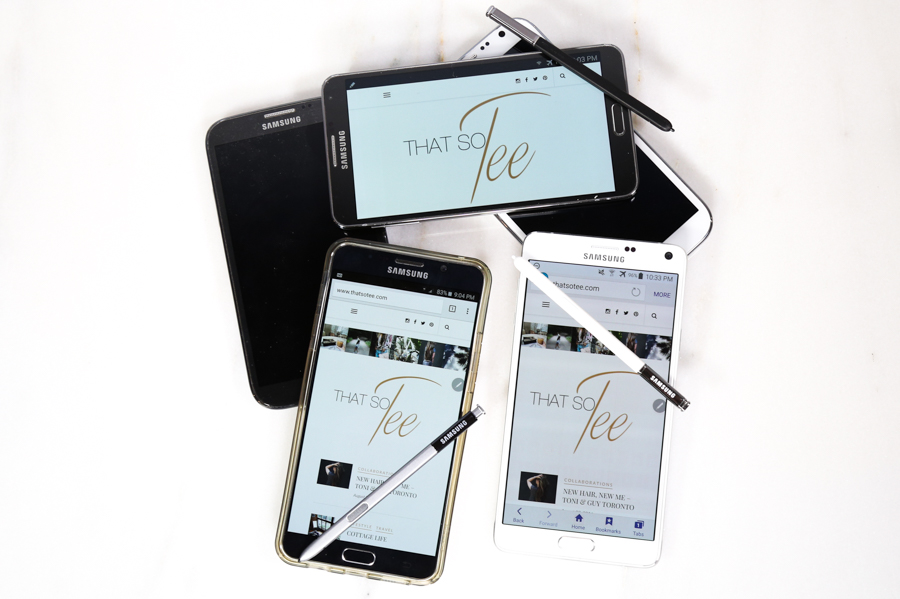 (pictured Samsung Galaxy Note 1, 2, 3, 4, & 5)